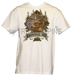 1-BAG IT TAG IT WHITETAIL DEER HUNTING GEAR APPAREL MENS GRAPHIC PRINTED T-SHIRT