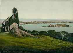 Plymouth. Plymouth From Mount Edgcumbe. Pz Vintage Photochromie Photochrom