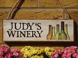 Personalised Garden Sign Winery Sign Own Name You Choose Wording Wine Beer Drink