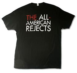 All American Rejects Overlay Tour Kids In Street Black T Shirt Move Along
