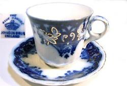 Johnson Brothers England Flow Blue The Blue Danube Demitasse Cup And Saucer A