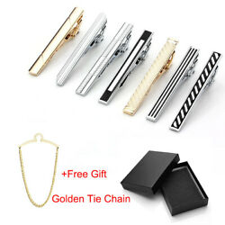 7 PCS Set Vintage Men Stainless Steel Necktie Tie Bar Clasp Shirt Clip Clamp Pin