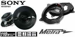 Sony Xsgs1621 6.5 Speakers + 1 Pair Front Adapters For Toyota Camry