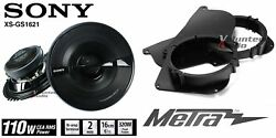 Sony Xsgs1621 6.5 Speakers + 1 Pair Front Adapters For Toyota Tacoma