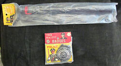 Vintage Trick Realistic Police Badge And Night Stick In Original Package Americana