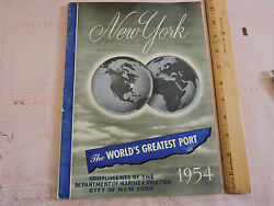 1954 Marine And Aviation 144-page Annual Book New York City Ships, Commerce, Photo