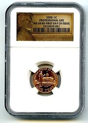 2009 P Us Mint Cent Professional Life Ngc Ms68 Rd First Day Issue Only 8 Top Pop
