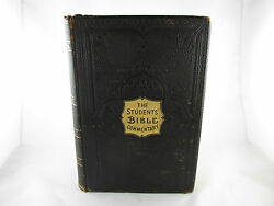 1908 The Students Bible Commentary Colored Map Antique Old Rare Book Estate Find