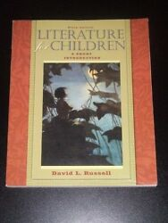 Literature For Children Short Introduction By David L. Russell 6e 2008 New