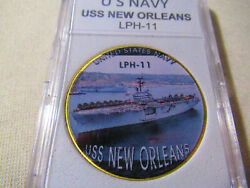 Us Navy - Uss New Orleans Lph-11 Challenge Coin