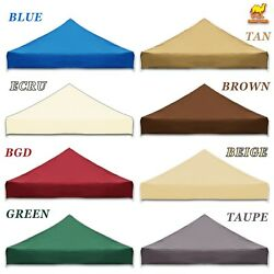 Replacement Canopy Only For 10x10' Pop Up Folding Tent Top Gazebo Sunshade Cover