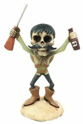Day Of The Dead Mexicanos Bandidos Desert Bandit With Shotgun And Tequila Figurine