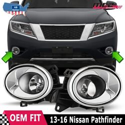 For 13-16 Nissan Pathfinder Factory Fit Fog Light Bumper Wiring Kit Clear Lens