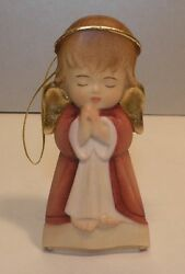New Hanging Guardian Angel - Red -10207, Wood Figurine From Lepi, Italy