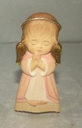 New Hanging Guardian Angel - Pink- 10207-r , Wood Figurine From Lepi, Italy