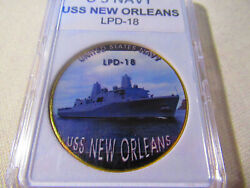 Us Navy - Uss New Orleans Lpd-18 Challenge Coin