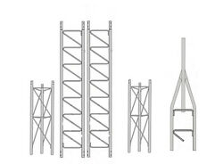 ROHN 25SS035 25G Series 35' Self Supporting Tower Kit