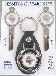 White W/silver Pontiac Indian Chief Deluxe Classic Keys Set 1944 1945 1946 1947