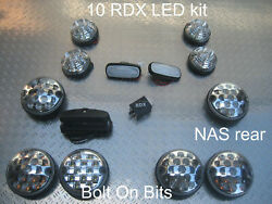 Rdx Led Clear 10 Lights/small/large Side Repeaters Numplate Defender 1998-2016 C