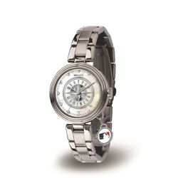 Seattle Mlb Baseball Mariners Charm Watch With Stainless Steel Band