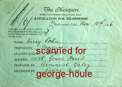 Ralph Ince - - Signed - 1926 - Harry Cohn - Thomas H. Ince - Columbia Pictures