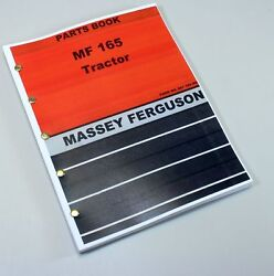Massey Ferguson Mf 165 Tractor Parts Catalog Manual Book Exploded View Assembly