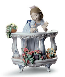 New Lladro 8735 Morning Song Special Edition Brand Nib Flowers Girl Save F/sh