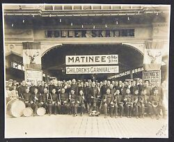 Lg. Cabinet Photo Band And Children's Carnival Young's Ocean Pier Atlantic City Nj