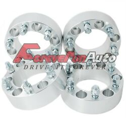 4pc 2 6x5.5 Wheel Spacers Adapters 12x1.5 For Acura Chevy Toyota Gmc Dodge Kia