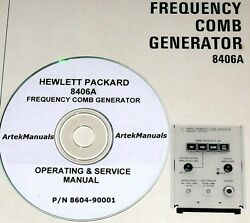 Hewlett Packard Operating And Service Manual For 8406a Frequency Comb Generator