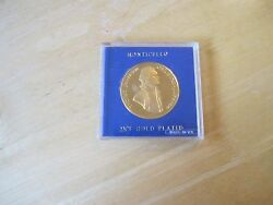 Thomas Jefferson - Monticello 22ct Gold Plated Medal