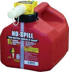 No-spill Gasoline Fuel Gas Can Red 1.25 Gallon 7.5x8x10 1415