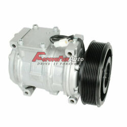 Ac A/c Compressor With Clutch For John Deere Tractor Replacesdenso 10pa17c Type