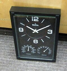 BULOVA WALL CLOCK quot;CONCEPTquot; THERMOMETER HYGROMETER AND CLOCK C3732
