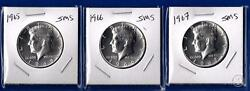 1965 1966 And 1967 Sms Special Mint Set Kennedy Half Dollars-40 Silver