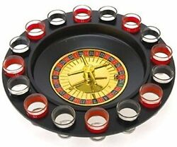 Lucky Roulette Shot Glass Bar Drinking Game Set Fun And Exciting 12