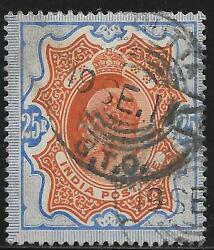 India Stamps 1902 Sg 147 Canc Vf Scarce Stamp