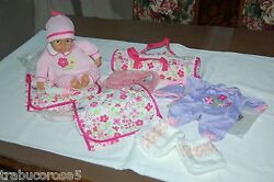 New Lissi Interactive Doll W/travel Cot/accessories/clothes+extra Diaper Bag