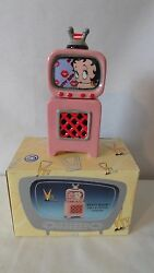 Betty Boop 2000 Vandor With Television Salt And Pepper Shakers Mib H843