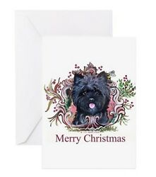 Cairn Terrier Christmas Cheer Greeting Card Set of 10 Toto Holiday  Dog