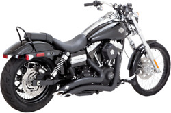 Vance And Hines Big Radius Black Exhaust For 06-17 Harley Dyna Fxdb Fxdl Fxdc