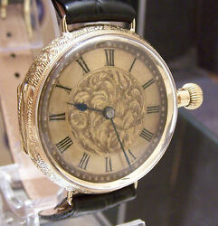 Rare C 1900 International Watch Co Solid 18k Gold Conversion Watch Serviced