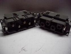 72...0453 82AMP 4 PIN MALE AND FEMALE CONNECTOR SET NEW!!