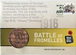 2016 Battle Of Fromelles Medallion Fdcand039s Mandurah Stamp Show Pmkand039s Sold Out A