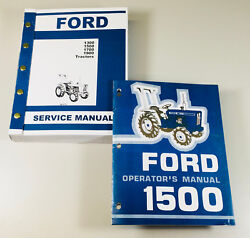 Set Ford 1500 Tractor Service Operator Manuals Technical Repair Maintenance Shop