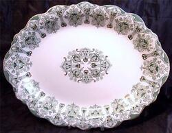 Antique J And G Meakin Genoa Art Nouveau England 16 In Oval Platter