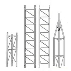 ROHN 25G 30' Self Supporting Tower with 25AG Top Section with Set Screw Bushing