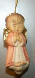 New Pink Angel On The Cloud, 10206-rs, Wood Figurine From Lepi, Italy