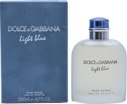 Dolce And Gabbana Light Blue D And G Edt 6.7 / 6.8 Oz Cologne For Men New In Box