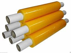 Pallet Wrap Yellow Stretch Shrink Wrap Film 400mm X 200m Colour 20mu Extended